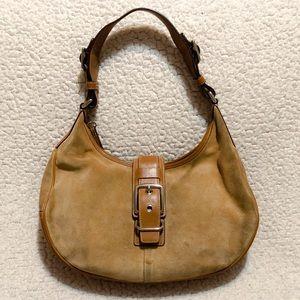 Coach Suede & Leather Saddle Bag.